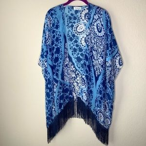 Soul Young Floral Beachwear Cover Up Kimono.